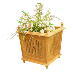 Classic Teak - Teak Bucket Planter - Our teak bucket planter is a stylish accent of indoors or outdoors plants or flowers. This teak planter is ideal for creating a unique setting that is very distinctive when compared to oak or plaster products.