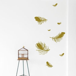 Ferm Living Feather WallSticker - Wall decals have been popular for a couple of years, but I've never seen such a pretty design as these falling feathers.