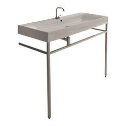 WS Bath Collections Cento Wall Hung or Counter Top Ceramic Sink