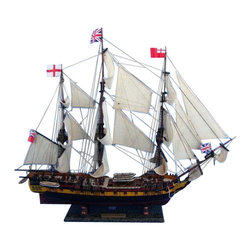 """Handcrafted Model Ships - HMS Surprise Limited 38"""" - Master and Commander Wooden Model Ship - Sold Fully Assembled Ready for Immediate Display -Not a Model Ship Kit"""