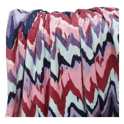 Dormify - Paintica Chevron Throw - Bohemian Rapacity.  Wrap up in this sumptuously soft chevron throw blanket and look as chic as ever. The Paintica Chevron throw blanket covered in beautiful shades of purple, pink, and blue, reverses to a soft purple to add even more diversity to this already unique throw blanket. Cozy up with this blanket on your bed, sofa, or even as you walk around your home. More like Bohemian Wrap-city.