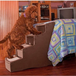 Other Brands - Easy Step IV - PG9740TN - Shop for Ramps Stairs and Accessories from Hayneedle.com! The Easy Step IV helps your small old or disabled cat or dog move up and down from high places with ease. The ramp snaps together for easy assembly and has a soft removable carpet tread to keep your pets from slipping and falling. Designed to look great with your decor the ramp measures 29-inches high and is available in your choice of colors.