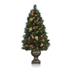 Balsam Hill Sausalito Pine Topiary Artificial Christmas Tree - THE SPLENDOR OF BALSAM HILL'S SAUSALITO POTTED PINE TREE |