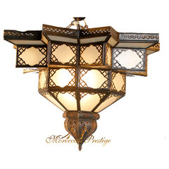 Moroccan White Flower Ceiling Lamp