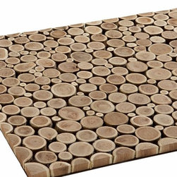 """Branch Mat CB2 - This sliced wood door mat is the perfect way to transition from indoors to out. It's a lovely way to bring an organic yet contemporary element into your home.Qingke wood with a natural finishIndoor or outdoor use (store indoors during inclement weather)For indoor use, ensure mat is well ventilated29""""x19.5"""""""