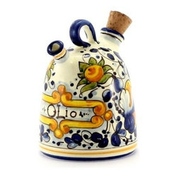 Artistica - Hand Made in Italy - Foglie Di Montelupo: Olive Oil Bottle Cruet Campana Old World - Foglie Di Montelupo Collection: