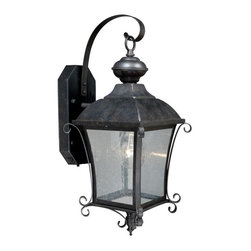 """Vaxcel - Vaxcel T0018 Sonnet 8-3/4"""" Outdoor Smart Lighting Wall Light - Vaxcel Lighting T0018 Sonnet 8.75-in Outdoor Wall Sconce This Vaxcel Lighting product has a gold stone finish. It is offered with seeded glass. For use"""