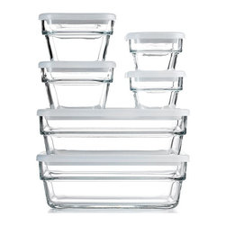 Martha Stewart Collection Food Storage Container Set, 12 Piece Save & Store - I'm not sure I'll ever have one of those beautifully organized pantries, but this set of glass food storage containers would certainly be a step in the right direction.