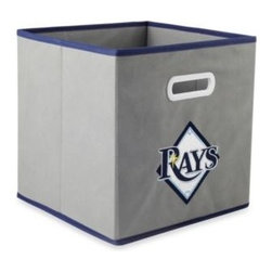 Owner's Box, Llc - MLB Tampa Bay Rays Fabric Storage Drawer in Grey - This MLB Tampa Bay Rays Drawer is ideal for storing clothing, small toys in your children's room, home office organization, or for any room you need some extra storage. A fun way to show off your team pride and keep your home or office organized.