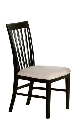 Atlantic Furniture - Atlantic Furniture Mission Side Chair in Espresso (Set of 2) - Atlantic Furniture - Dining Chairs - AD771101 - The Atlantic Furniture Mission Dining Side Chairs are constructed from Eco-friendly solid hardwood and have an elegant Espresso wood finish. This set of two dining side chairs feature a vertical slat back design and an Oatmeal colored seat cushion. The Mission Dining Side Chairs are perfect for a casual dining room setting.