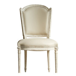 Eloquence Inc - Flins Dining Room Chair in Buttermilk Yellow - Flins Dining Chair in Buttermilk Leather