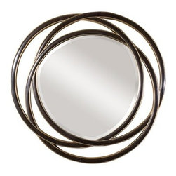 """Uttermost - Uttermost 14522 B Odalis Beveled Mirror With Entwined Circles Frame - Uttermost 14522 B Odalis MirrorThis unusual mirror features a frame made of three entwined circles with a matte black finish with silver leaf inner and outer edges.  Mirror has a generous 1 1/4"""" bevel.Features:"""