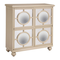 Sterling Industries - Sterling Industries 6042341 Mirage Cabinet - A Show Piece From The French Ivory Collection Designed Especially For Bailey Street, The Mirage Cabinet Is Finished In A Muted Ivory With A Hint Of Grey Green.  The Sheen Is Medium And Color Variations May Occur From Individual Shading.  Cabinet (1)