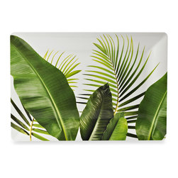 Poolside Palms 20-Inch Melamine Square Serving Tray - Featuring the quintessential symbol for the tropics, this melamine serving tray is functional and beautiful.
