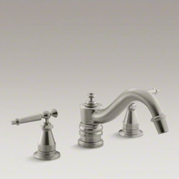 KOHLER - KOHLER Antique bath faucet trim for deck-mount high-flow valve with lever handle - An elegant finishing touch to traditional decor, Antique faucets and accessories bring vintage charm to bathrooms. This Antique bath faucet trim features classic lever handles for easy operation. Pair this trim with high-flow ceramic disc valves for optim