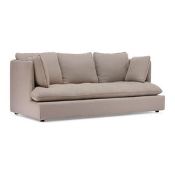 Zuo Modern - Zuo Pacific Heights Sofa in Beige - Pacific Heights Sofa in Beige by Zuo Modern Our European-inspired take on the classic Sofa in redefines it for a new age. Low to the ground, deep in profile, sleekly streamlined, and overstuffed for casual yet sophisticated appeal, it's a chic, ultra-comfortable twist on tradition. Comes in either beige or charcoal linen fabrics. Sofa in (1)