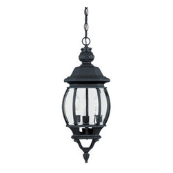 "Designer Fountain - Riviera 7 1/2"" Hanging Lantern - 7 1/2 inches cast hanging lantern"
