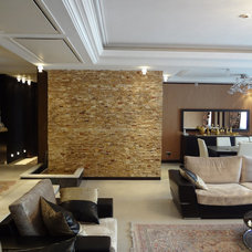 Modern Living Room by AZHANDPANAM CONSULTING ARCHITECT