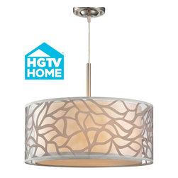 HGTV/Elk Autumn Breeze Drum Shade Pendant 53001-3 - ORDER TODAY ON HOUZZ AT LEE LIGHTING.