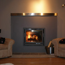 Contemporary Indoor Fireplaces by Doctor Flue inc