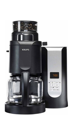5.0 - Krups KM7000 Grind and Brew Coffee Maker, 10 Cup - -Concical burr grinder with automatic functionality: grinds coffee to match number of cups and strength chosen