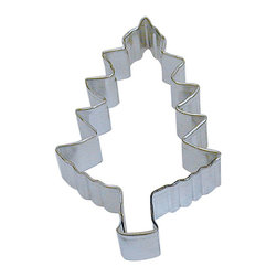 RM - Christmas Tree 4 In.  B1102X - Christmas Tree cookie cutter, made of sturdy tin, Size 4 in., Depth 7/8 in., Color silver