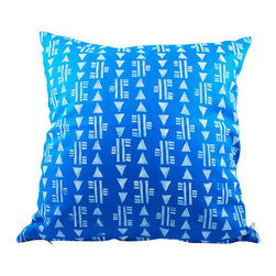 Moko & Co. - Pillow Cover - Bows and Arrows in Caribbean Blue, 14x14 - The Process: