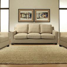 Serving Dishes And Platters Aymara Cream 3-seat Sofa