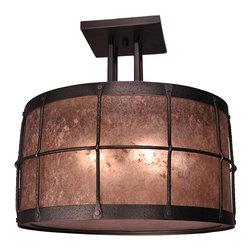 Steel Partners Inc - Four Post Drop Ceiling Mount — Ferron Forge - Finish Shown