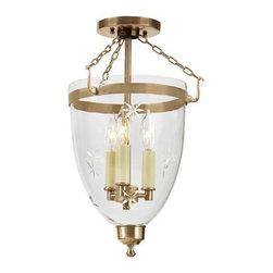 JVI Designs - JVI Designs 1163 Danbury 3 Light Star Glass Urn Pendant - Features: