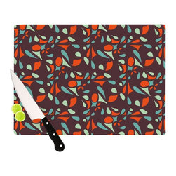 """Kess InHouse - Miranda Mol """"Retro Tile"""" Cutting Board (11"""" x 7.5"""") - These sturdy tempered glass cutting boards will make everything you chop look like a Dutch painting. Perfect the art of cooking with your KESS InHouse unique art cutting board. Go for patterns or painted, either way this non-skid, dishwasher safe cutting board is perfect for preparing any artistic dinner or serving. Cut, chop, serve or frame, all of these unique cutting boards are gorgeous."""