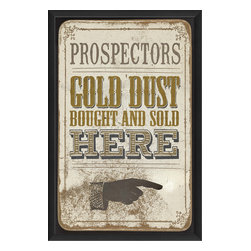 The Artwork Factory - 'Gold Dust' Print - This is your golden opportunity to pick up a quality print that can transform the look of your room. It's handsomely printed on acid-free, fade-resistant paper with 12-color pigment ink … all framed in black wood and ready to hang.