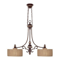 Capital Lighting - 2 Light Island FixturePark Place Collection - Beginning with design concepts from popular home fashions, they transform their ideas into lighting fixtures that blend timeless beauty with today's styling.