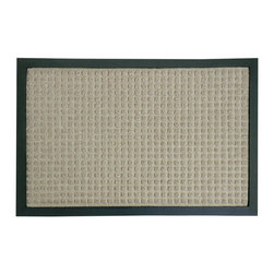 Rubber-Cal - Rubber-Cal 'Nottingham' Tan Carpet Mat (18 x 30 inches) - The Nottingham entrance mat is an eco-friendly mat made with a natural and reclaimed rubber. Its polypropylene fiber surface acts as a perfect traction mat in wet or slippery entryways and brings unbeatable non-slip protection to a home or office.