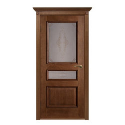 Viena Oak Classic Interior Door With Frosted Glass - Please note, this is a pre-order door. Minimum quantity is 5 doors per order. Delivery time is within 4 weeks.