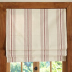 French Stripe Roman Shade - Roman shades work so well in kitchen spaces. I love that this one in a French stripe has a vintage feel.