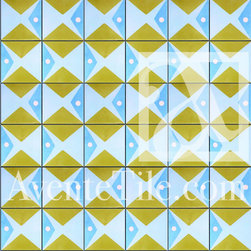 "Artist Series Thimo Pimentel Juanillo 8"" x 8"" - Cement tile pattern created by Dominican Republic artists that elevate cement tile to functional art."