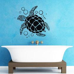 ColorfulHall Co., LTD - Wall Decal sea animal wall sticker large turtle wall - Wall Decal sea animal wall sticker large turtle wall