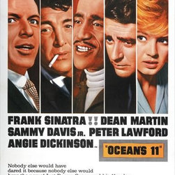 Oceans 11 27 x 40 Movie Poster - Style B - Oceans 11 27 x 40 Movie Poster - Style B Frank Sinatra, Dean Martin, Sammy Davis Jr., Angie Dickinson, Peter Lawford, Richard Conte, Cesar Romero, Joey Bishop, Akim Tamiroff, Henry Silva, Buddy Lester, Norman Fell, Red Skelton, Shirley MacLaine, George Raft. Directed By: Lewis Milestone. Written By: Harry Brown, Charles Lederer. Cinematography By: William H. Daniels. Music By: Nelson Riddle.