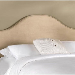 Home Decorators Collection - Custom Draper Upholstered Headboard - The simple, subtle elegance of our Draper Upholstered Headboard will bring a sophisticated touch to your bedroom furniture arrangement. With its arches, scalloped design and a vast array of beautiful, hand-sewn fabrics for you to choose from, you will love having this headboard as a part of your home. Includes hardware to attach to most standard bed frames. Assembled to order in the USA and delivered in 4-6 weeks. Spot clean only.