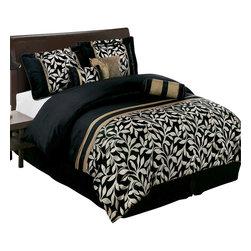Bed Linens - Chandler 7-Piece Comforter Set, Queen - Full 7-Piece set includes: