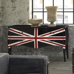 Zuo Modern Union Jack Large Cabinet - Distressed Black