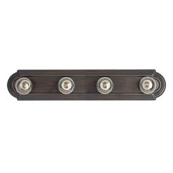 Maxim Lighting - Maxim Lighting 7124OI Essentials Oil Rubbed Bronze 4 Light Vanity - 4 Bulbs, Bulb Type: 100 Watt Incandescent