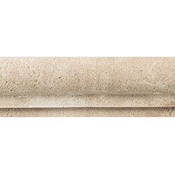 Tumbled Stone in Azteca chair rail -
