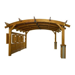 Outdoor Greatoom Company Sonoma Redwood Freestanding Pergola - This pergola would tie everything on a patio together perfectly. You could hang lights, planters and curtains from it. Ah-mazing!