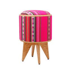 Pomada - Aguayo-Fuxia Stool Ottoman - A new life begins with each Pomada Ottoman by Patron Design.