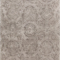 """Surya - Surya Henna HEN-1000 (Ash Gray, Taupe) 3'3"""" x 5'3"""" Rug - The Surya Henna Collection features hand tufted rugs made with 50% Wool/30% Viscose/20% Cotton."""