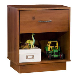 South Shore - South Shore Logik Sunny Pine Night Table - South Shore - Nightstands - 3342062 - Functional and stylish the Logic Nightstand is indeed a stroke of genius. Suitable for many decors it is the prefect place for your child to keep their bedtime accessories in reach. It is also made to last construction to be durable and safe with it's wounded corners for many years of childhood and on.