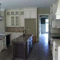 Lot 23 New Haven, Peachtree City, Ga - Custom Cabinetry, Traditional style, Painted and glazed Finish, with stained and glazed accent island