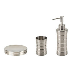 Gedy - 3 Piece Stainless Steel Accessory Set in Brushed Nickel - .